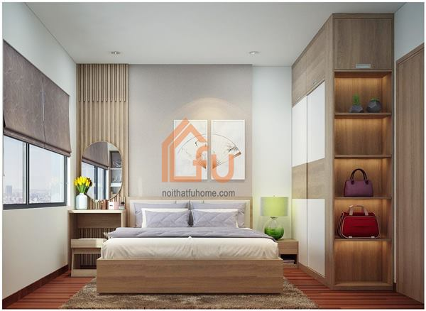 Thiết kế thi công nội thất căn hộ chị Khuyên phòng ngủ