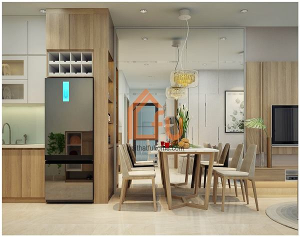 Thiết kế thi công nội thất căn hộ chị Khuyên tại Vinhomes Ocean Park Long Biên