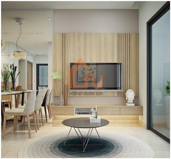 Thiết kế thi công nội thất căn hộ chị Khuyên