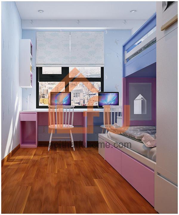 Thiết kê và thi công nội thất căn hộ nhà anh Huy cho phòng ngủ cho con 2