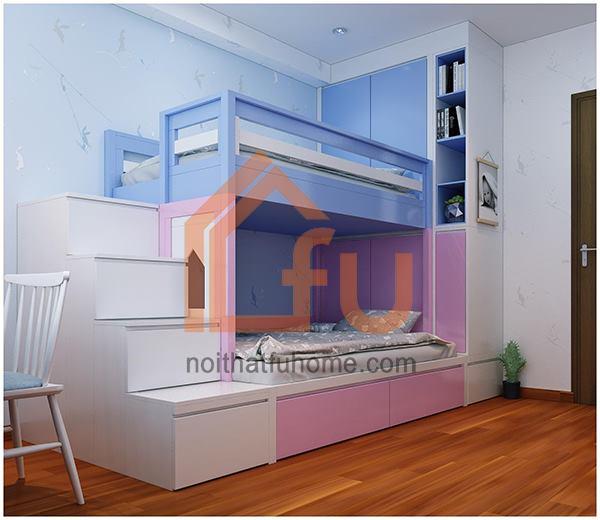 Thiết kê và thi công nội thất căn hộ nhà anh Huy cho phòng ngủ cho con