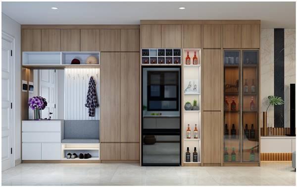 Chi tiết thiết kế nội thất trọn gói căn hộ chung cư của chị Phương 11