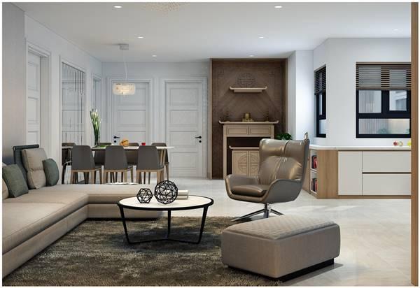 Một số mẫu thiết kế nội thất chung cư tân cổ điển đẹp 12
