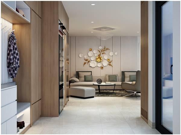 Chi tiết thiết kế nội thất trọn gói căn hộ chung cư của chị Phương 2