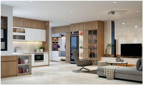 Thi công nội thất gỗ chung cư giúp căn nhà thêm đẹp