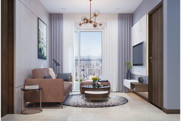 Thiết kế các không gian chức năng trong căn hộ chung cư 100m2 1
