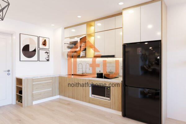 Thiết kế thi công nội thất phòng khách bếp