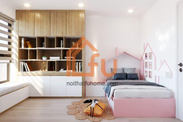 Thiết kế thi công nội thất phòng ngủ cho bé gái