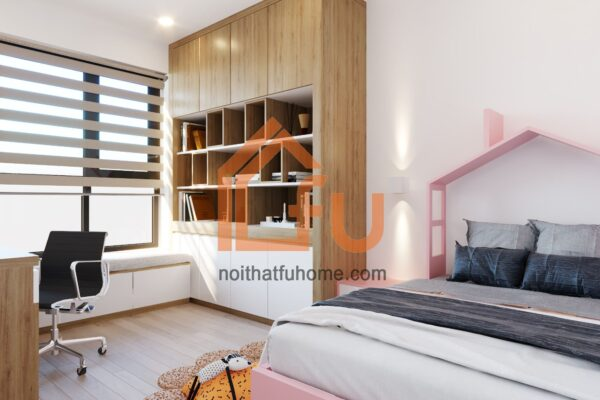 Thiết kế thi công nội thất phòng ngủ phụ